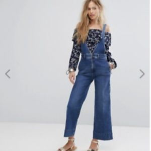 Free People A-Line Overalls size 8 NEVER WORN!